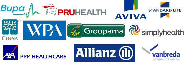 We work with the major insurers